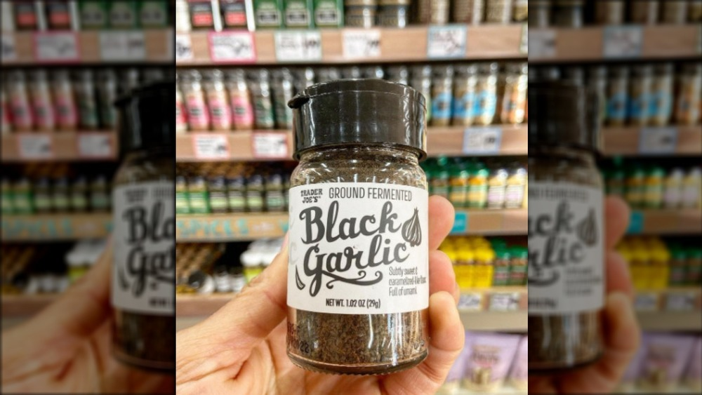 Shakeable black garlic from Trader Joes