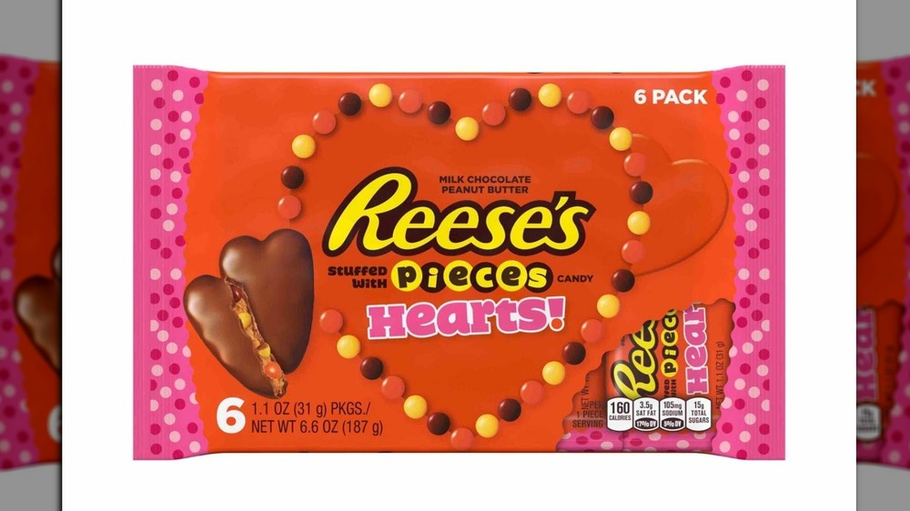 Reese's Valentine's Day Hearts stuffed with Pieces