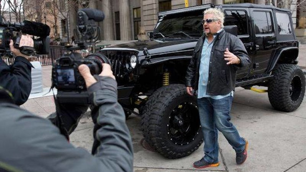 Guy Fieri films Diners, Drive-Ins and Dives