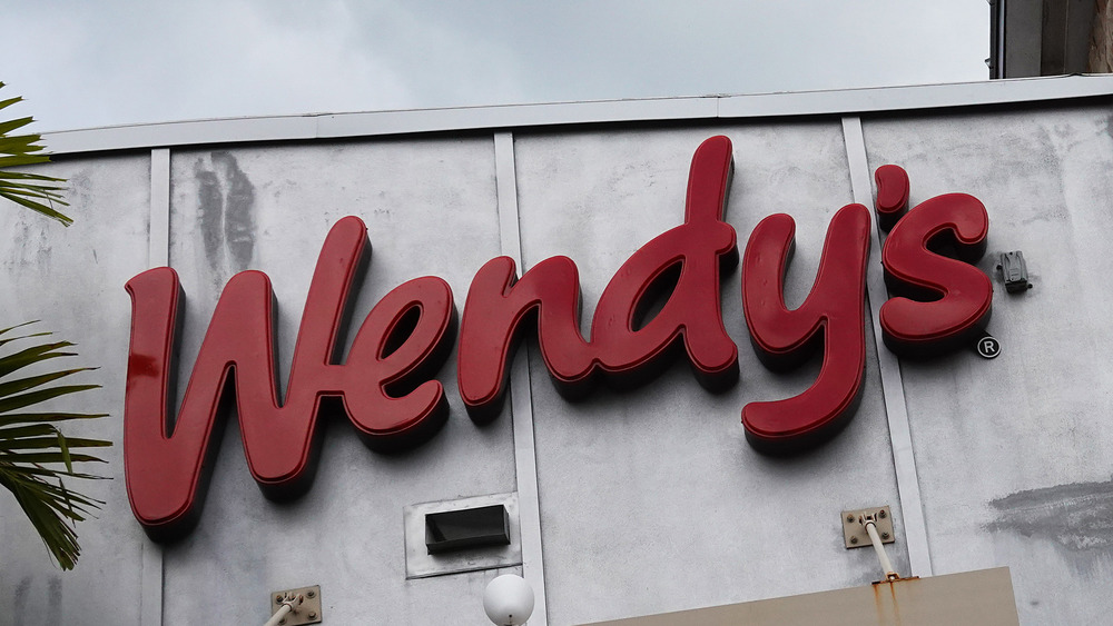 Close up of a Wendy's sign