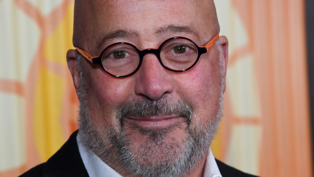 A close-up shot of Andrew Zimmern