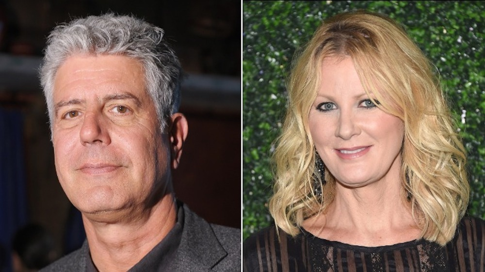 Split image of Anthony Bourdain and Sandra Lee