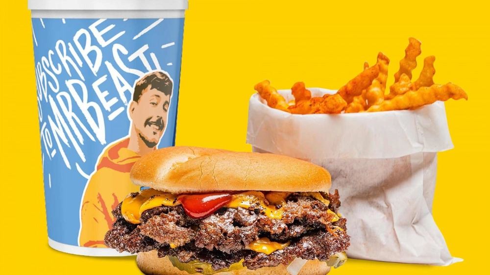 burger, fries, and drink from MrBeast Burger