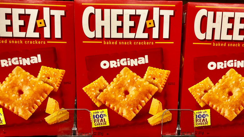 Cheez-Its on a store shelf