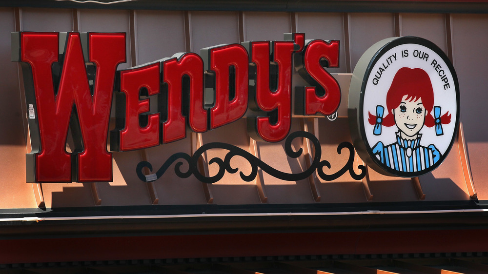 Wendy's exterior sign with logo