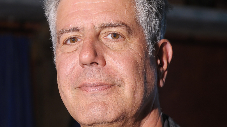 Anthony Bourdain close-up