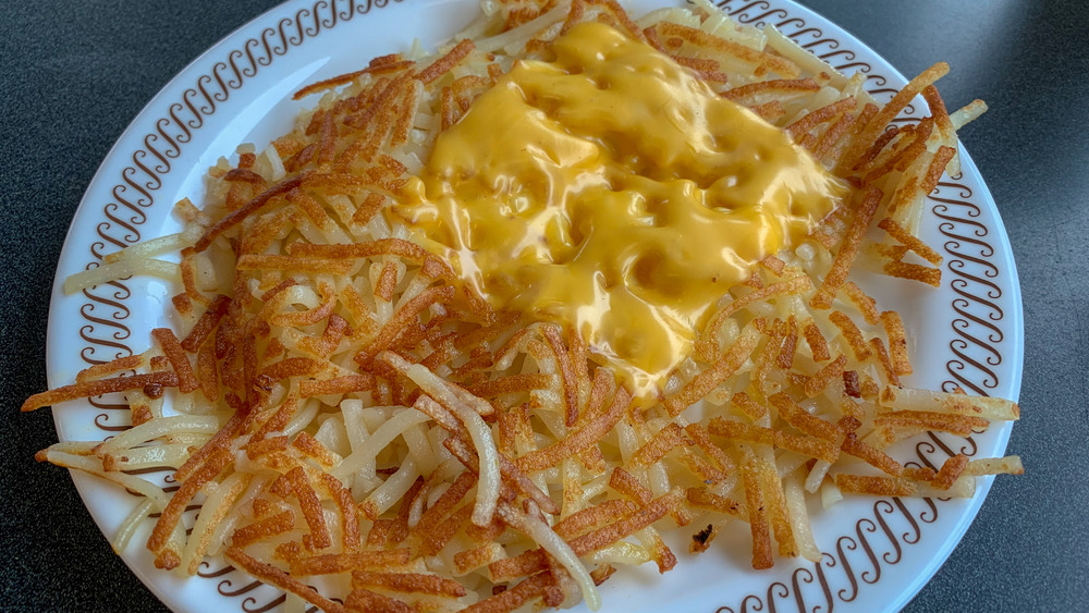 Waffle House hash browns with cheese