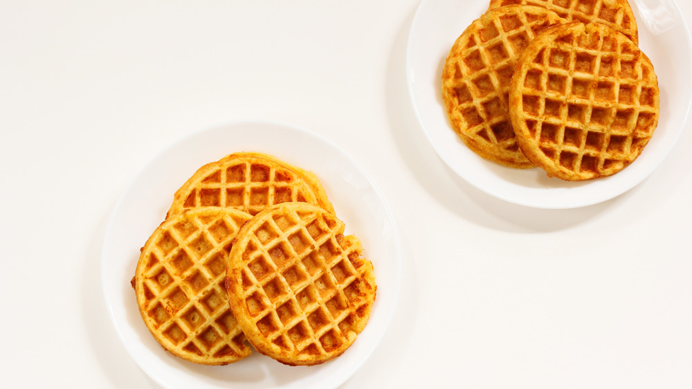 Plates of waffles