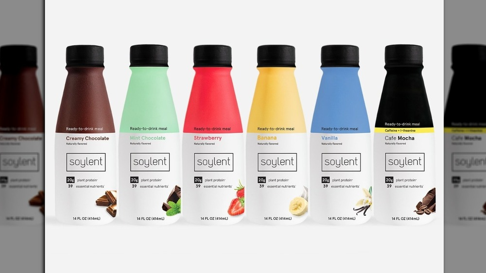 bottles of Soylent products