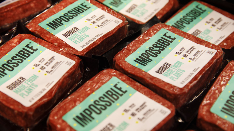 Impossible plant-based burger products