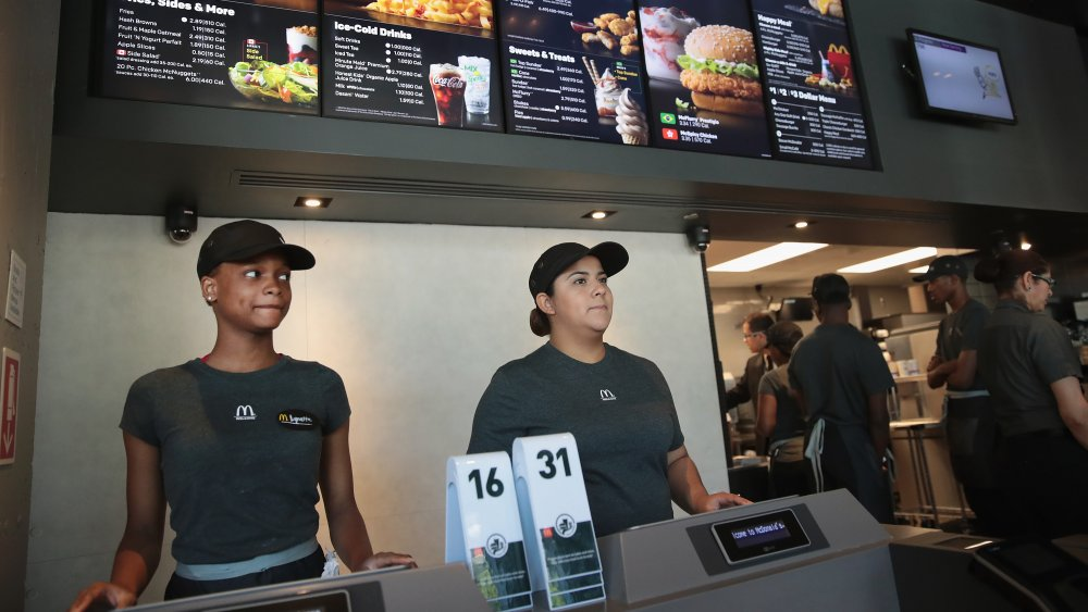 McDonald's employees at counter