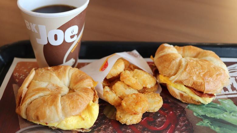 Burger King breakfast on a tray
