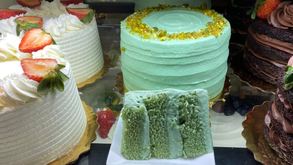 Whole Foods' Pistachio Chantilly Cake