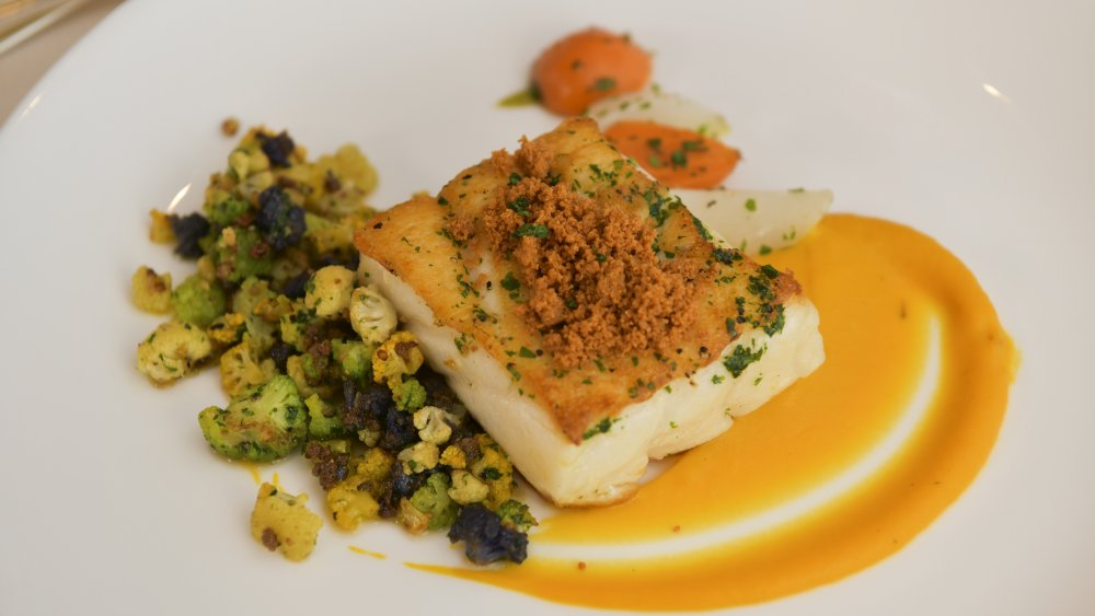 Chilean sea bass as served during the Golden Globes
