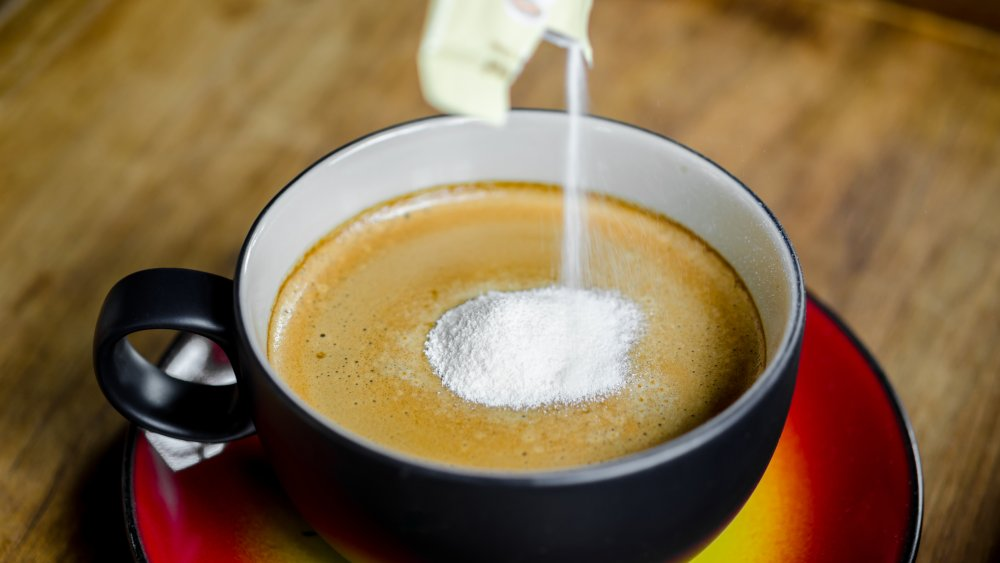 powdered creamer in coffee