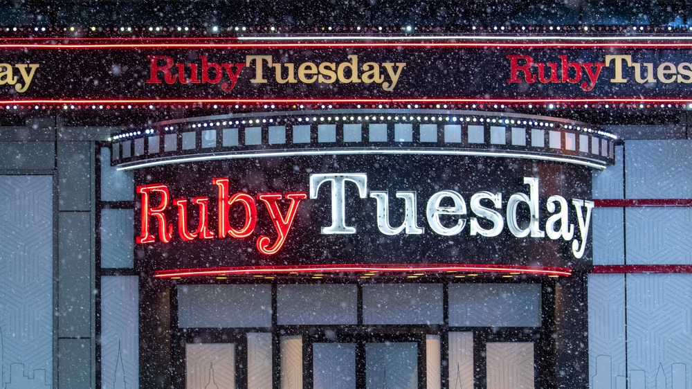 front of a Ruby Tuesday