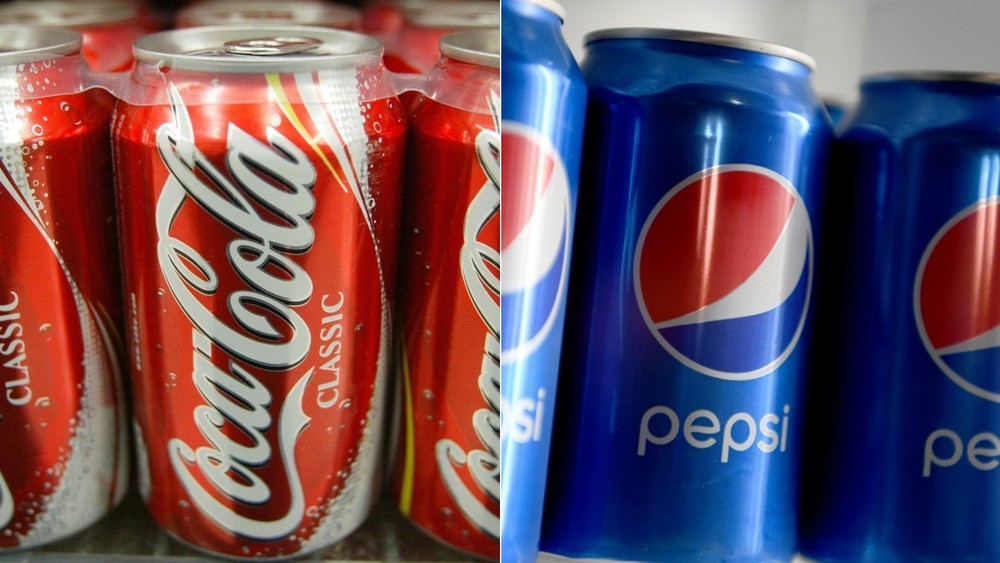 Coke and Pepsi cans