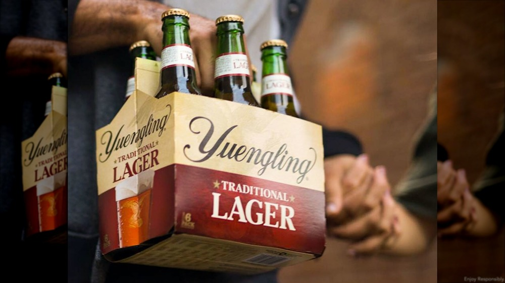 Six pack of Yuengling lager